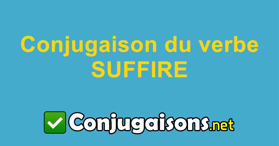 Suffire Conjugaison Du Verbe Suffire Conjuguer En Francais