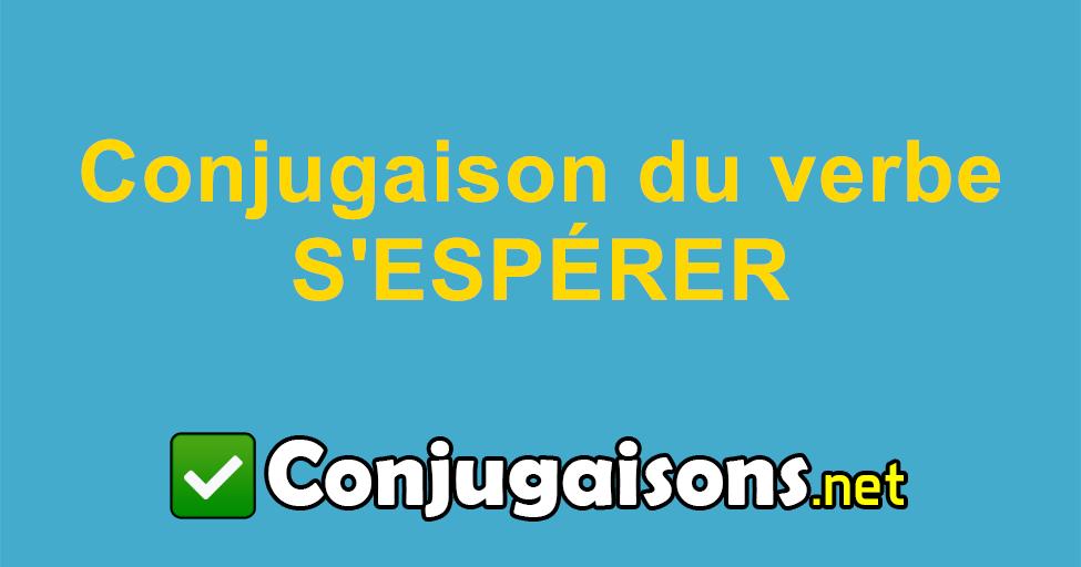 S Esperer Conjugaison Du Verbe S Esperer Conjuguer En Francais