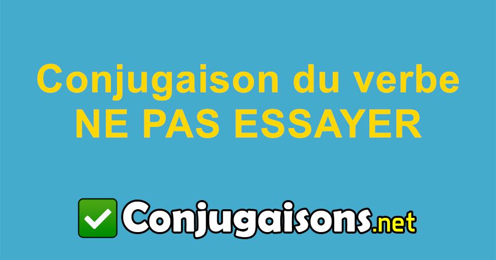 Ne Pas Essayer Conjugaison Du Verbe Ne Pas Essayer Conjuguer En Francais