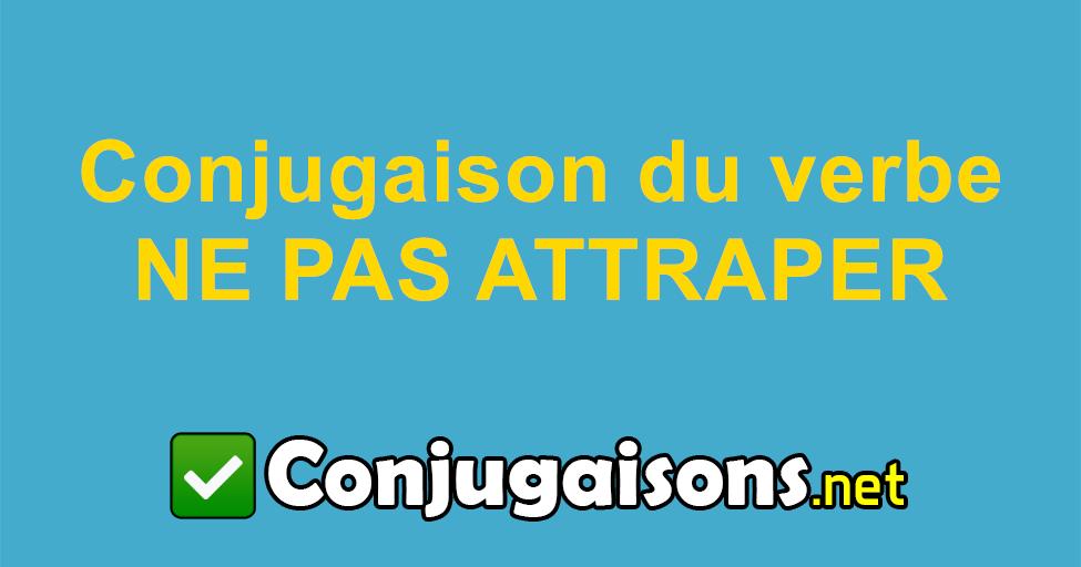 Ne Pas Attraper Conjugaison Du Verbe Ne Pas Attraper Conjuguer En Francais