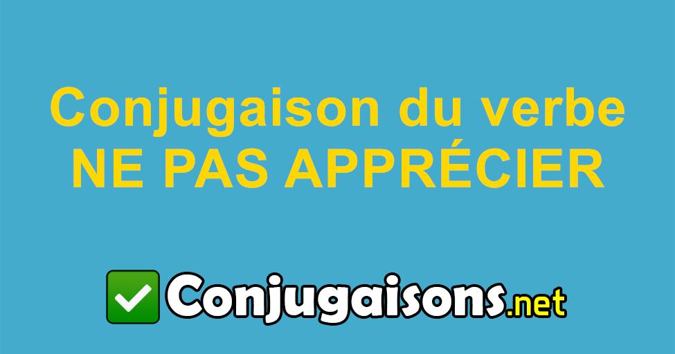 Ne Pas Apprecier Conjugaison Du Verbe Ne Pas Apprecier Conjuguer En Francais