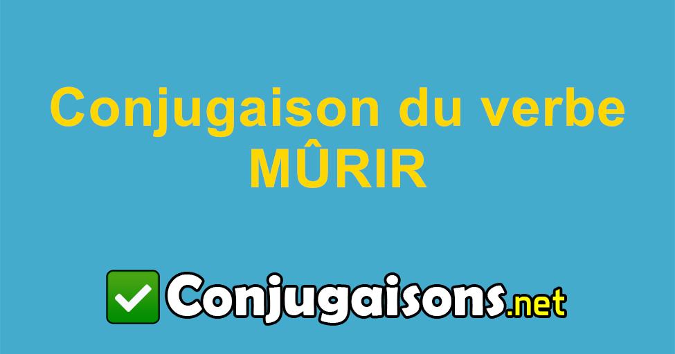 Murir Conjugaison Du Verbe Murir Conjuguer En Francais